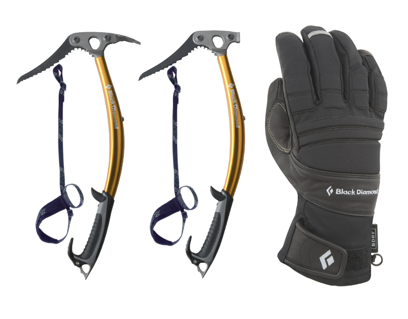 Black Diamond Viper Ice Axe Pair and Punisher Gloves, 205 kb