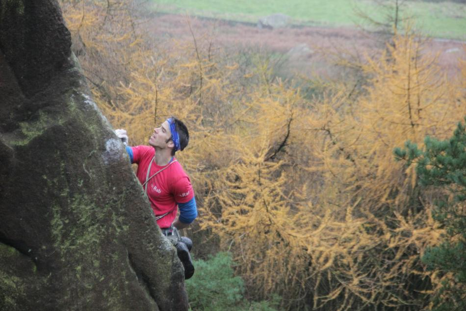 Tom Randall on the Staffs 'Nose' Challenge, before the rain set in..., 94 kb