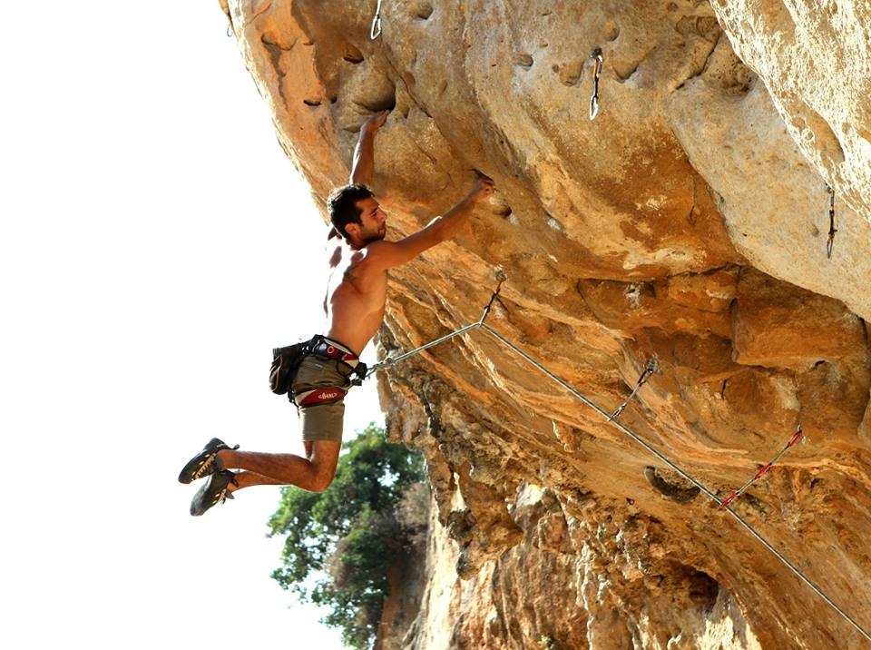 Lebanese climber George Emil on his project, 104 kb