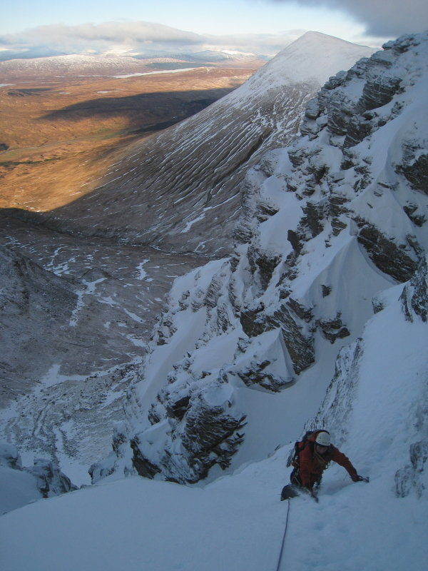 Icefall Finish, with Beinn Achaladair beyond , 103 kb