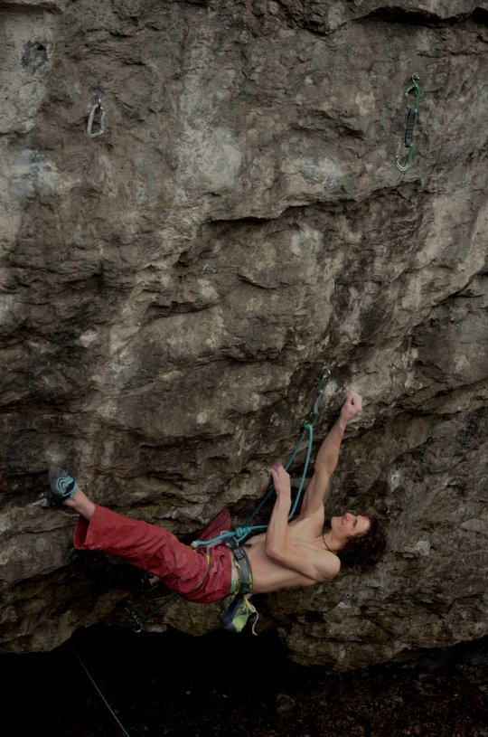 Adam Ondra on Vasil Vasil, 9b+, Sloup, Czech Republic, 130 kb