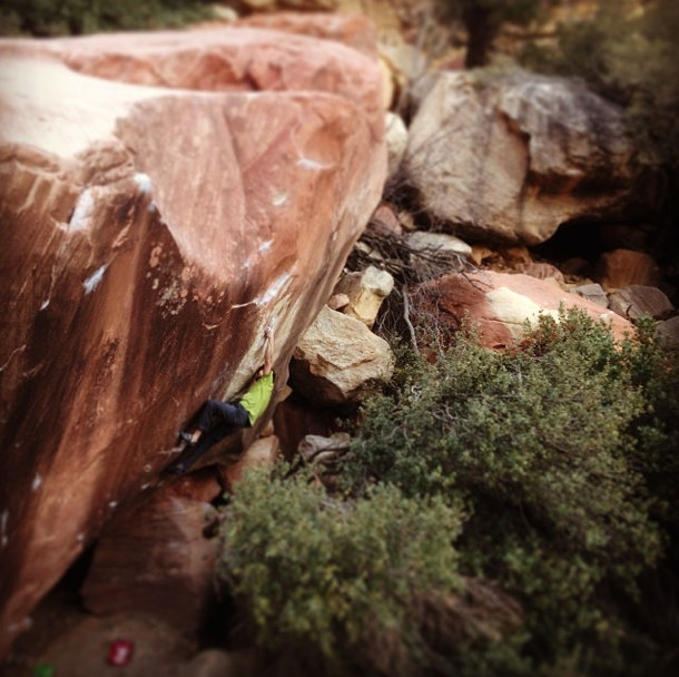 Jimmy Webb on The Nest, ~8C, Red Rocks, Nevada, 84 kb