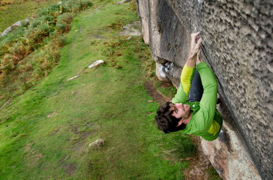 Dan Varian climbing The Rail, 8B+, Bowden Doors, 117 kb