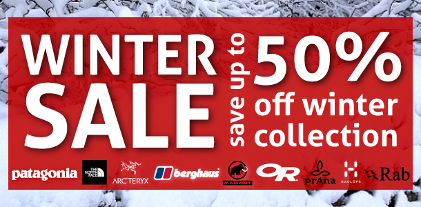 Big Winter Sale at outside.co.uk - save up to 50% on top outdoor brands