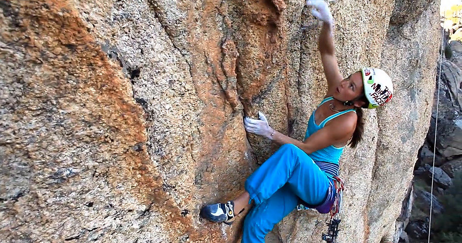 Caroline Ciavaldini on Jamesinade, E6 6b, Turkey, 214 kb