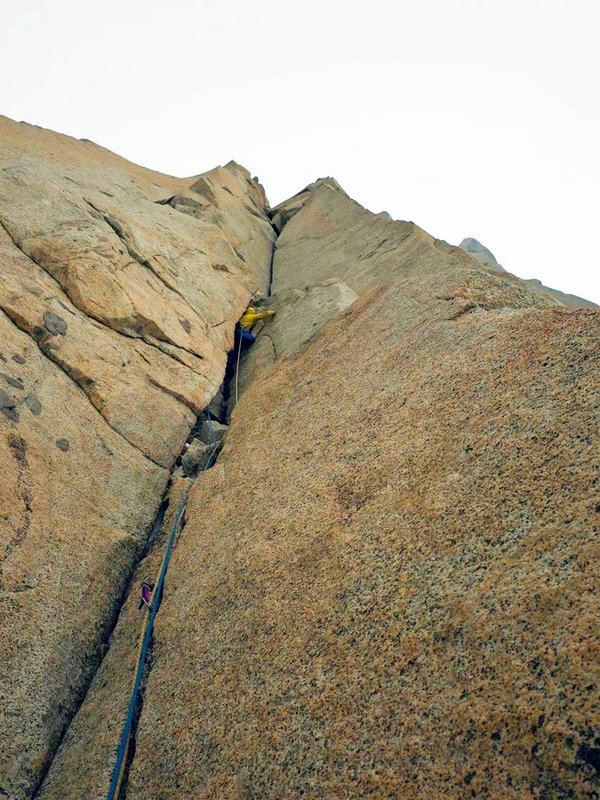 A full range of crack sizes on this beautiful granite route, 137 kb
