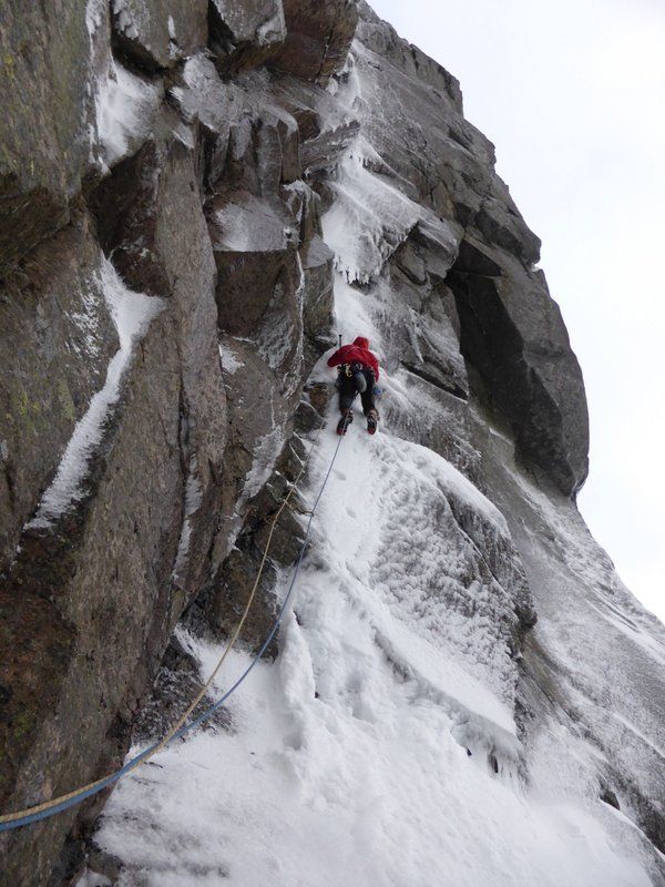 The first winter ascent of Giant, 99 kb