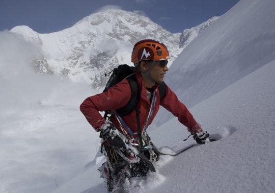 Will Sim on peak 12,200. Alaska, 46 kb
