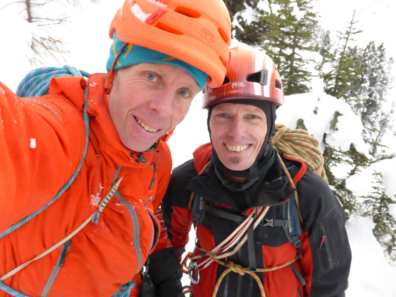 Robert and Wolfgang after their successful first ascent., 111 kb