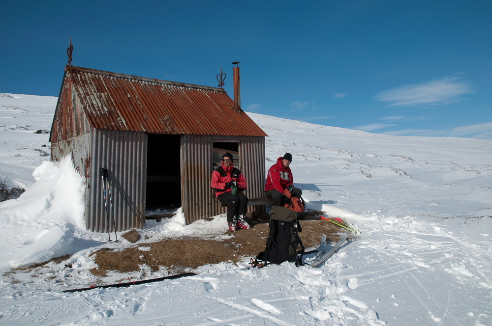 Tea stop at the bothy on A' Chailleach, 136 kb