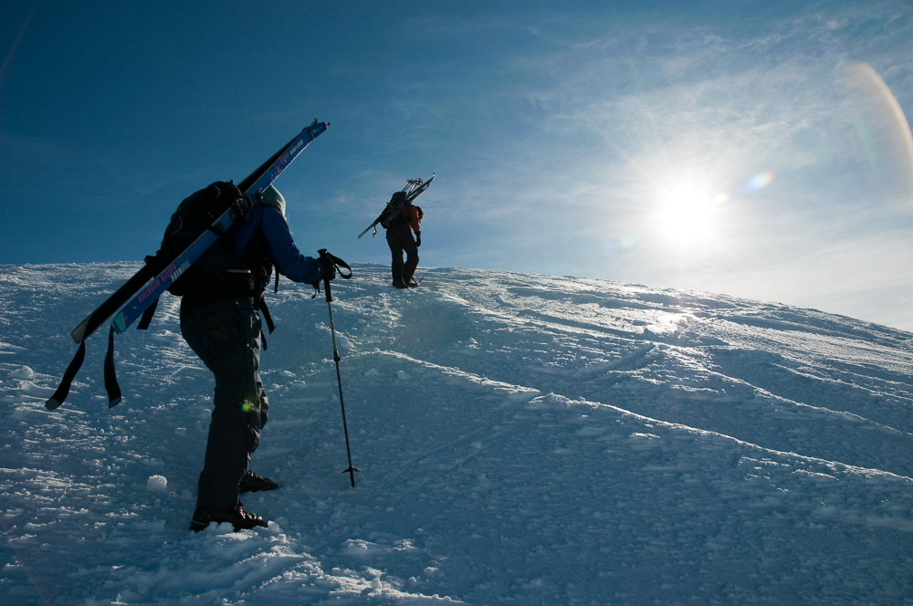 Cutting steps up the icy summit slopes of Glas Maol, 127 kb