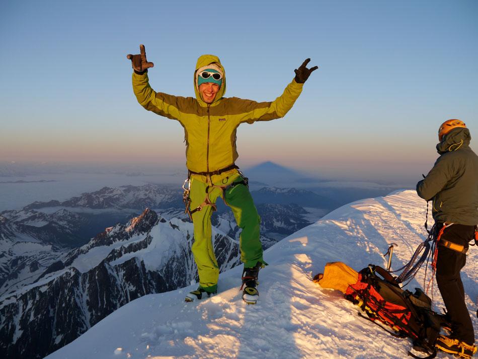 Ben Briggs on the summit of Mont Blanc, 141 kb