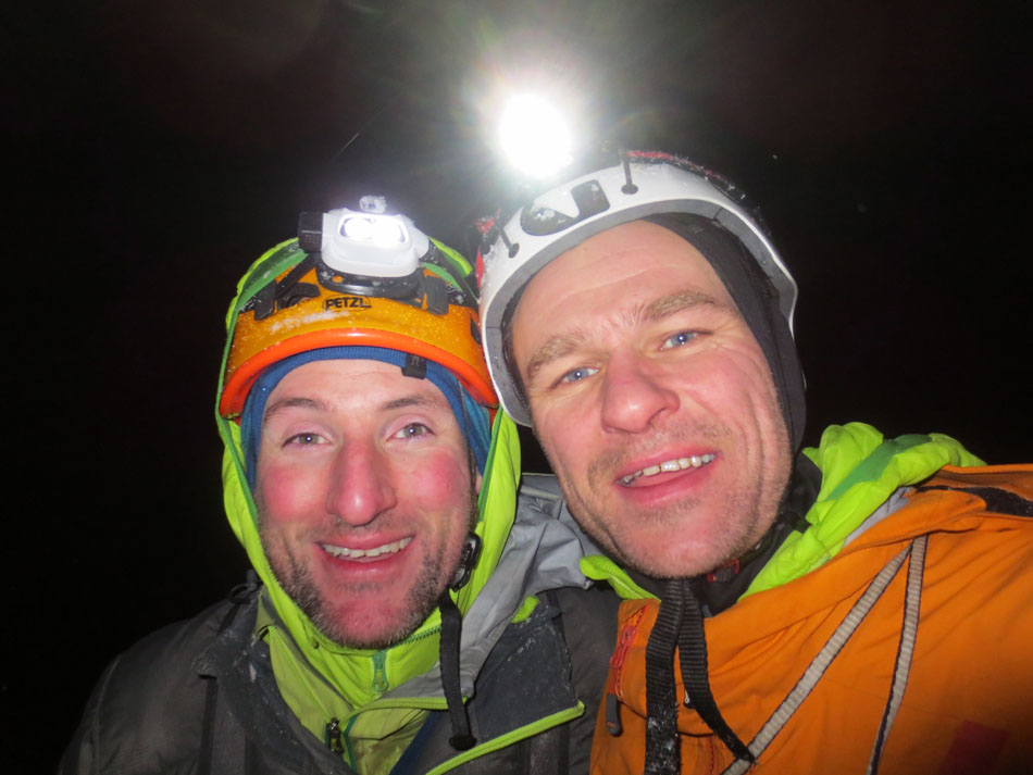 Pete Macpherson and Guy Robertson happy after going 'One Step Beyond', 115 kb