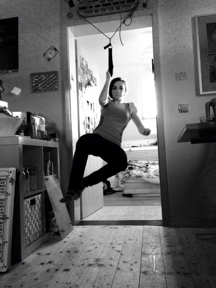 Jule Wurm training at home, 75 kb