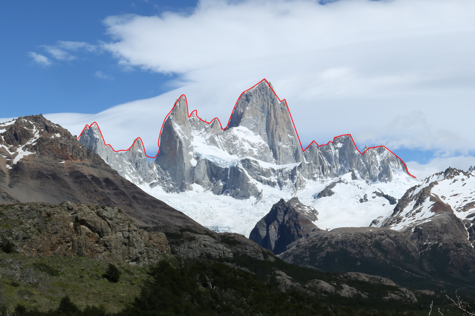 The Fitzroy Traverse - starting on the far right., 187 kb