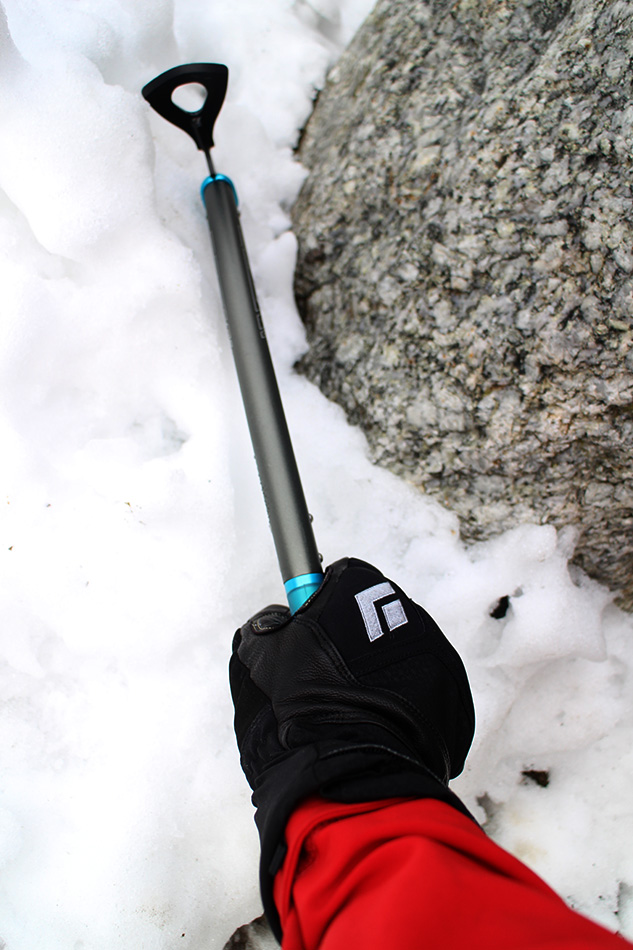The Black Diamond Punisher Glove in wet snow conditions, 173 kb