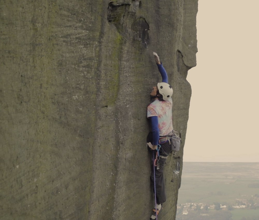 Jacob Cook climbs new Ilkley E9 #3, 92 kb