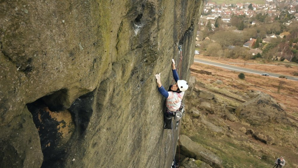 Jacob Cook climbs new Ilkley E9 #4, 131 kb