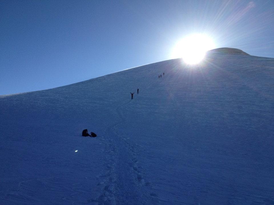 Sunrise on the upper slopes, 67 kb