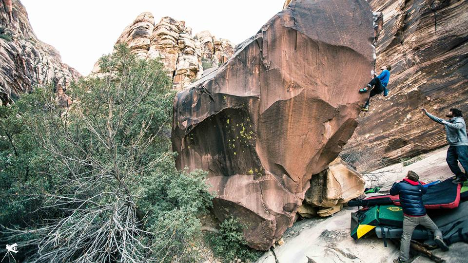 Nalle Hukkataival on The Shining path, 8A+, Red Rocks, Nevada, 139 kb
