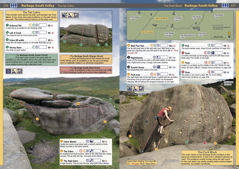 Example page from the Peak Bouldering Rockfax 1, 217 kb