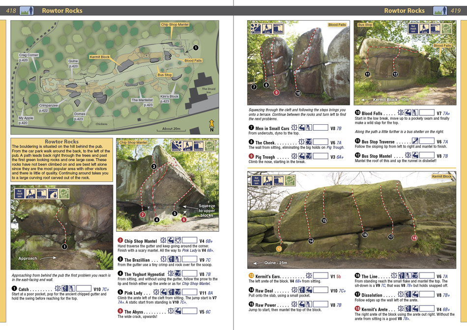 Example page from the Peak Bouldering Rockfax 2, 211 kb