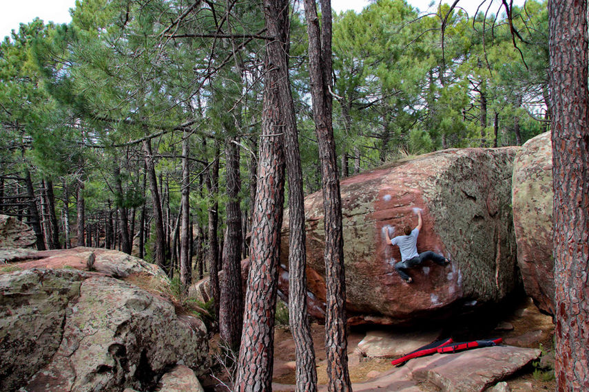 Ned on Esperanza SS, 8B, Albarracin, 209 kb