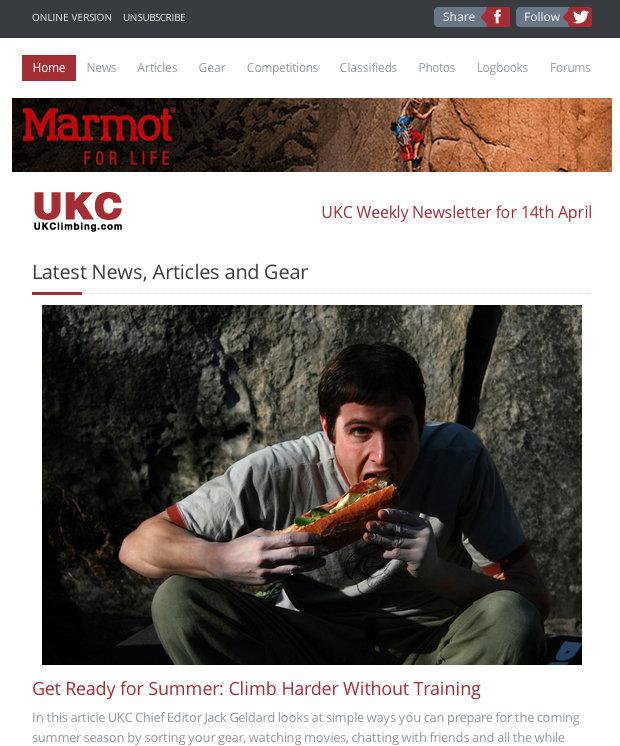 New UKClimbing Newsletter , 116 kb