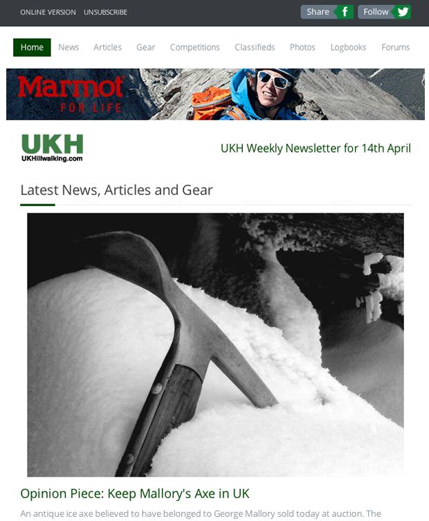 New UKHillwalking Newsletter, 228 kb