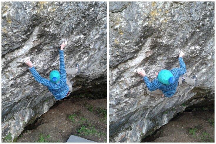 Ethan Walker climbing Dandelion Mind, 8B+, Badger Cove, 113 kb