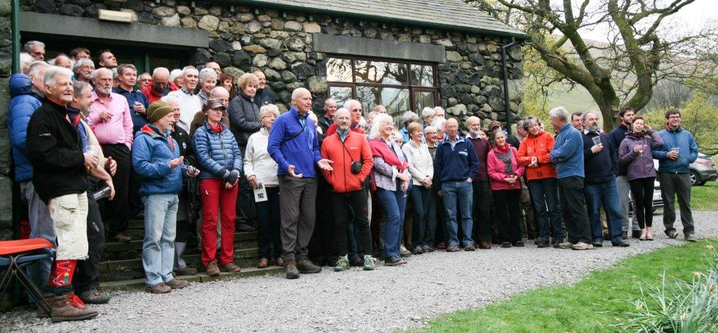 Gathering at FRCC Brackenclose Hut for the Centenary Celebration of Central Buttress' FA, 123 kb