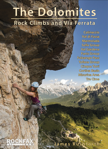 Dolomites : Rock Climbs and Via Ferrata Rockfax Cover, 160 kb