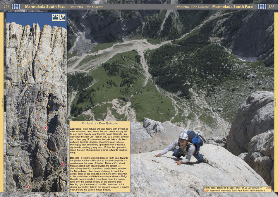 Rockfax Dolomites - example page 1, 199 kb