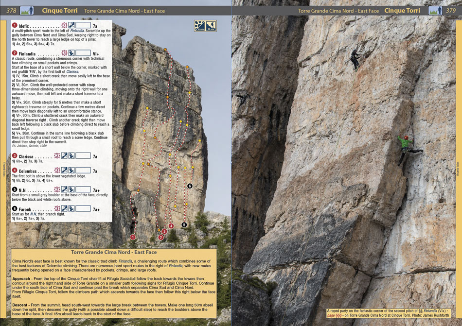 Rockfax Dolomites - example page 2, 221 kb