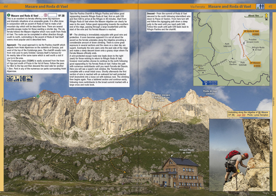 Rockfax Dolomites - example page 3, 222 kb