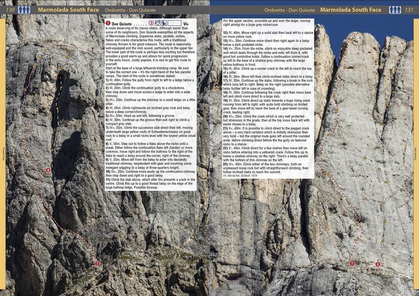 Rockfax Dolomites - example page 4, 186 kb