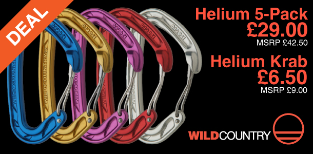 Wild Country Helium krabs on offer at outside.co.uk