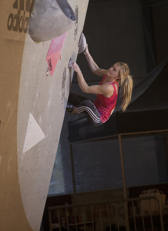 Shauna flashing Problem 3 in the final on her way to taking Gold at Grindlewald, 62 kb