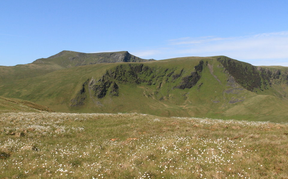Two ridges in one - the east ridge of Bannerdale Crags (right), and the top of Sharp Edge poking out behind, 137 kb