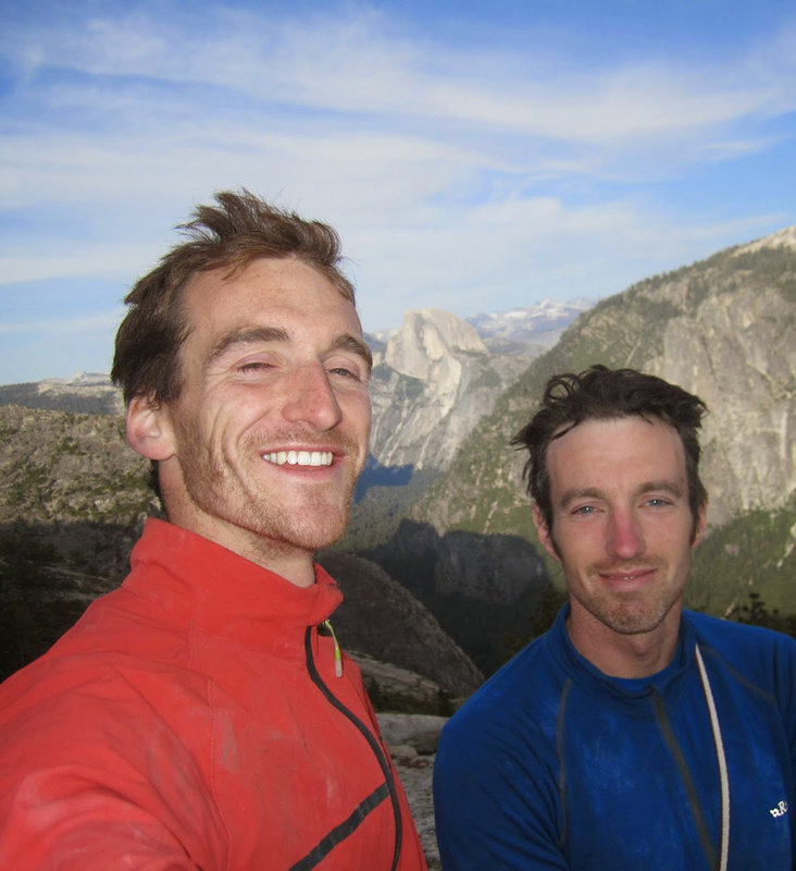 Dan and Caff happy after a team-free ascent of El Nino, 5.13c/8a+, El Capitan, 113 kb
