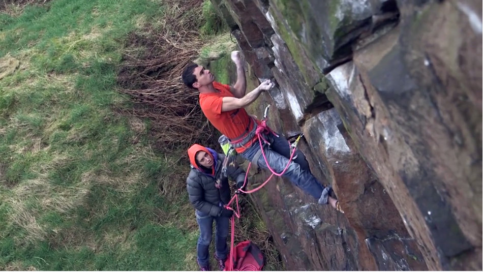 Jordan Buys on the first ascent of The Onlooker, E8 6c, Newchurch Quarry, 147 kb