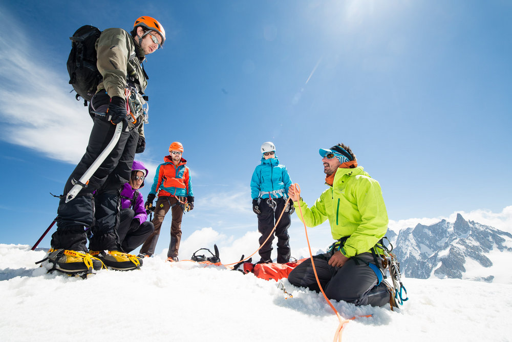 Guides working on the Arc'teryx Alpine Academy, 147 kb