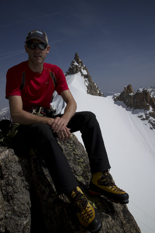 Jack Geldard on the Rognon du Plan, Mont Blanc Massif, France, 77 kb