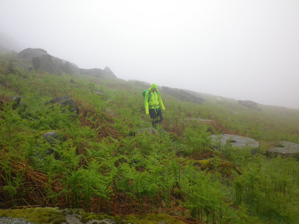 Maria Parkes putting the Marmot Wm's Adroit jacket to the test, 137 kb