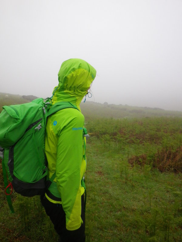 Low visibility and challenging conditions for Maria whilst testing the Marmot Wm's Adroit Jacket, 91 kb