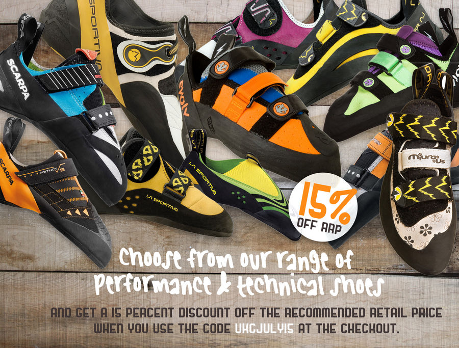 Deal of the Month - 15% off all Performance & Technical climbing shoes, 184 kb