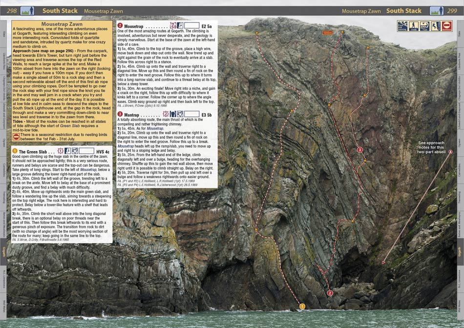 The Mousetrap page in The Rockfax North Wales Climbs guidebook, 174 kb