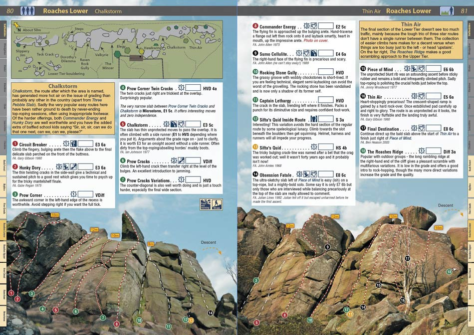 Ukc photos the sloth page from rockfax guidebook.