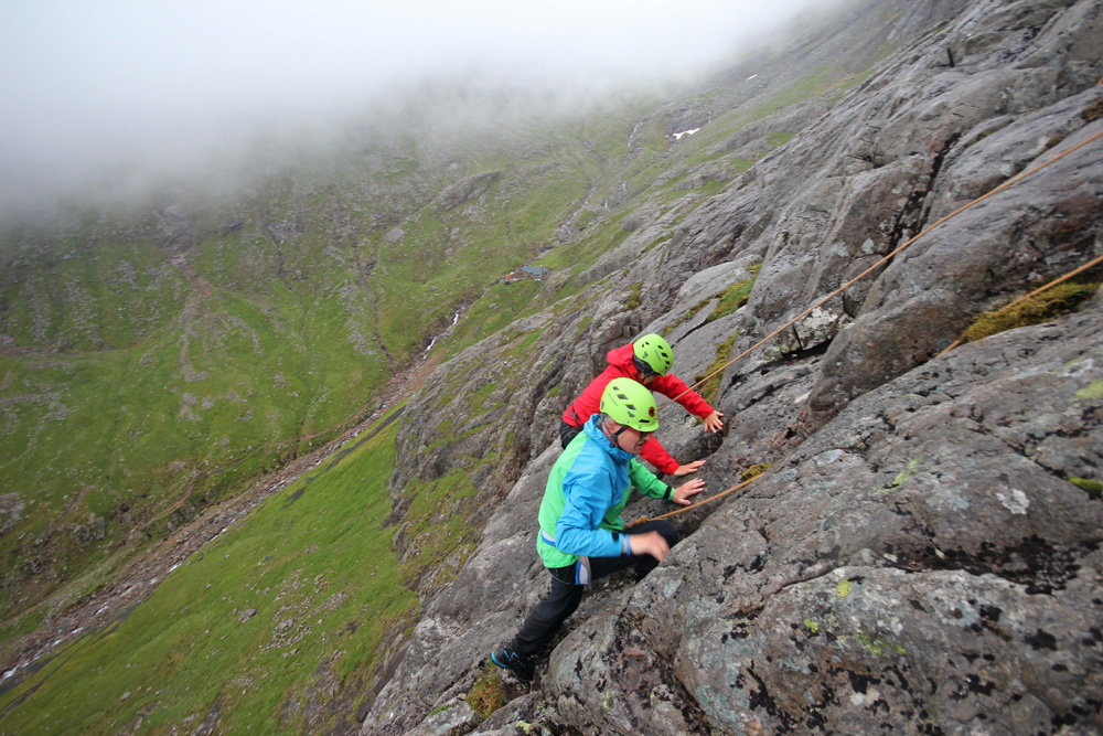 Climbers identifying flora on the North Face of Ben Nevis, 215 kb