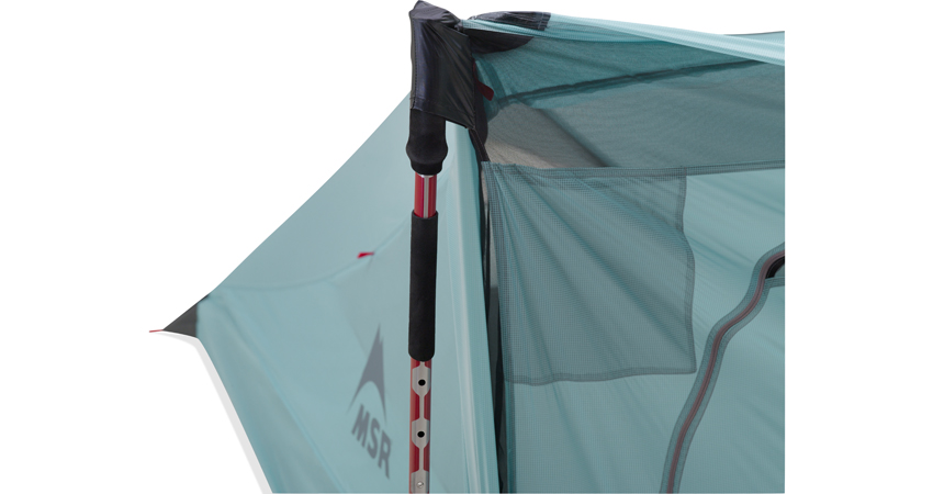 MSR Flylite Tent - The neat solution to fixing the trekking poles into place, 122 kb